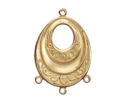 Brass Scrolling Oval Chandelier 32x21mm