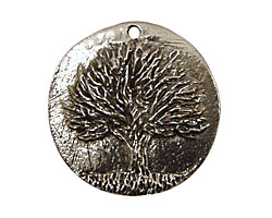 Green Girl Pewter Tree Pendant 30mm