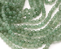 Green Aventurine (A) Faceted Round 4mm