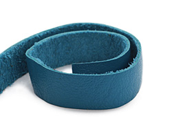 "TierraCast Turquoise Leather Strap 10"" x 1/2"""