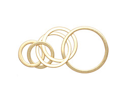 Amoracast 14K Gold (plated) Sterling Silver Multi Hoops 35x17mm
