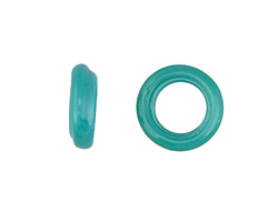 African Recycled Glass Turquoise Dogun Mini Ring 10-14mm