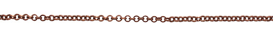Antique Copper (plated) Textured Circular Cable Chain