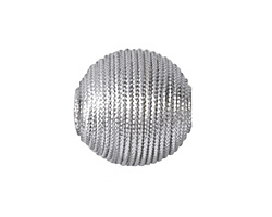 Metallic Silver Thread Wrapped Bead 18mm