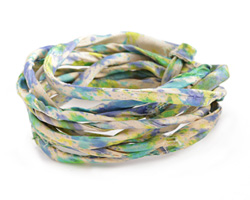 Oceanside Recycled Sari Silk Cord