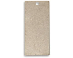 Vintaj Pewter Narrow Rectangle Blank 15x32mm