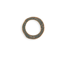 Vintaj Copper Verdigris (plated) Hammered Ring 20mm