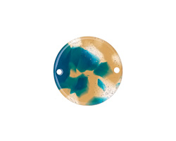 Zola Elements Tide Pool Acetate Coin Link 20mm