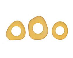 Desert Gold Recycled Glass Freeform Ring 17-26mm