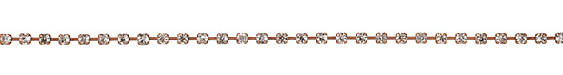 Antique Copper (plated) Rhinestone Chain 4mm