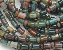 Fancy Jasper Barrel Rondelle 4-9x6mm