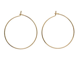 Gold (plated) Hoop Earwire 30mm