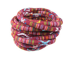 Red Round Woven Cotton Cord 6mm