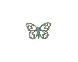 Zola Elements Patina Green Brass Lace Butterfly 16x10mm