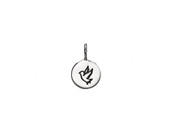 Nina Designs Sterling Silver Peace Dove Stamp Charm 8x13mm