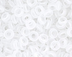 TOHO Transparent Frosted Crystal Demi Round 8/0 Seed Bead