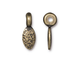 TierraCast Antique Brass (plated) Hammered Petal 7x21mm