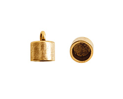 Nunn Design Antique Gold (plated) Barrel Bead Cap 9x11mm