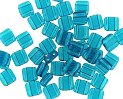 CzechMates Glass Teal 2-Hole Tile 6mm