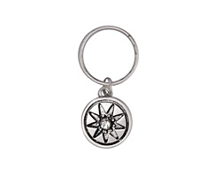 Zola Elements Antique Silver (plated) Starburst w/ Crystal Charm 12x28mm