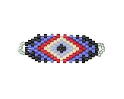 Yacht Hand Woven Focal Piece 35x12mm