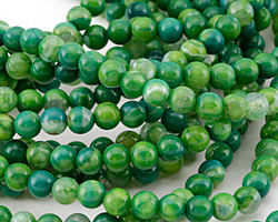 Parrot Green Fire Agate Round 6mm