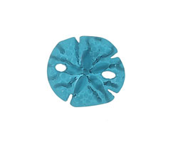 Peacock Blue Recycled Glass Sand Dollar 20mm