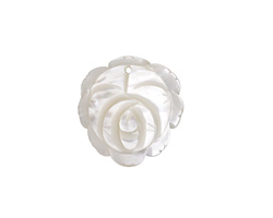 Mother of Pearl Carved Flower Pendant 22-25x23-26mm