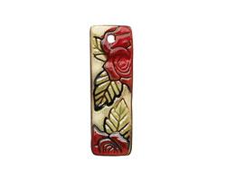 Earthenwood Studio Ceramic Long Rose Pendant 15-17x47-48mm