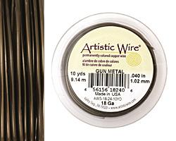 Artistic Wire Antique Brass 18 gauge, 10 yards