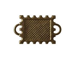 Vintaj Natural Brass Memoir Stamp Bezel 30x18mm