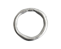 Nunn Design Antique Silver (plated) Grande Organic Hoop 28.5x30mm