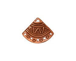 TierraCast Antique Copper (plated) Ethnic Fan Chandelier 15x19mm