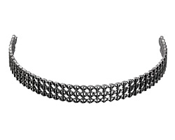 Zola Elements Antique Silver (plated) Lattice Lace Choker Focal 91x11mm