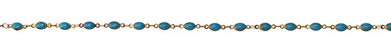 Zola Elements Peacock Oval Link Brass Chain