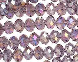 Light Amethyst AB Crystal Faceted Rondelle 8mm