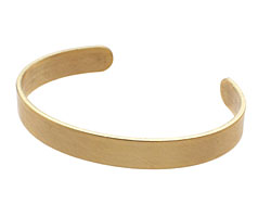 Brass Smooth Round Narrow Cuff 63x8mm