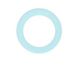 Turquoise Bay Recycled Glass Ring 27mm