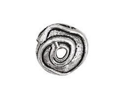 Pewter Spiral Bead Cap 5x20mm