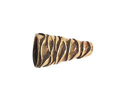 Saki Bronze Wavy Cone 21x12mm