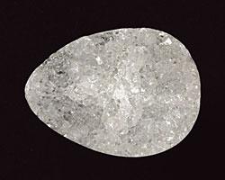 White Agate Druzy Flat Teardrop 30x23mm