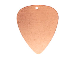 Copper Guitar Pick Blank 26x31mm