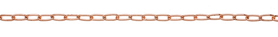 Rose Gold (plated) Long Oval Cable Chain