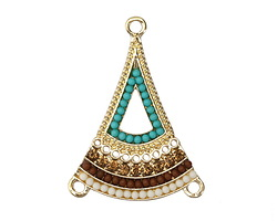 Zola Elements Gold (plated) Beachy Flared Triangle Chandelier 25x34mm