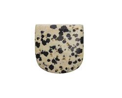 Dalmatian Jasper Banner Pendant (large hole) 30x30mm