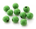 Kelly Green Wood Round 14mm