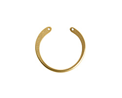 Nunn Design Antique Gold (plated) Large Open Circle Wire Frame 27x30mm