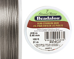 "Beadalon Bright .018"" 7 Strand Wire 100ft."