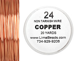 Parawire Non-Tarnish Copper 24 gauge, 20 yards