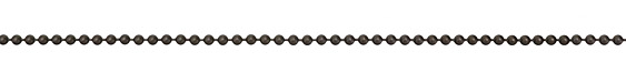 Matte Gunmetal (plated) Ball Chain